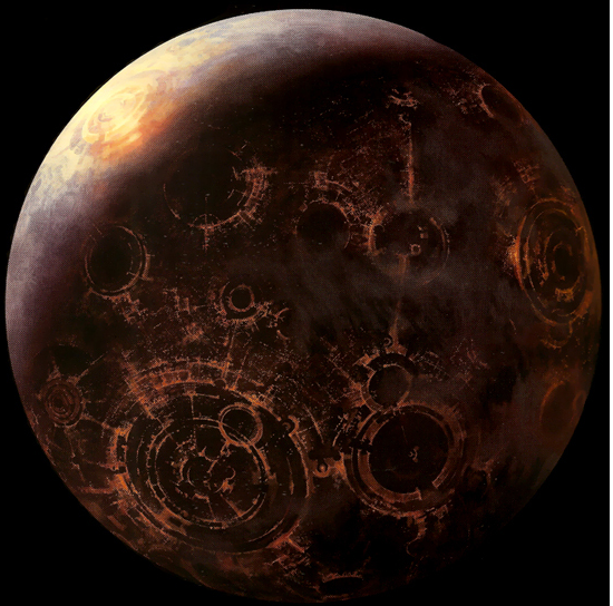 Globaalikapitalistinen Coruscant on planeetta, jossa luonnollisesta ekosysteemistä ei ole mitään jäljellä.